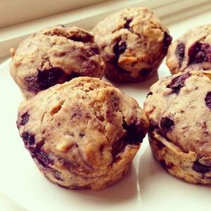 Vegan_Sugar-free_Blueberry_Muffins
